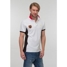 Buy latest 100% cotton contrast white color valencia polo t shirt just 749 repees only.