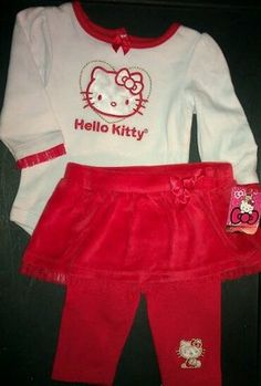 Hello Kitty Baby Onsie Outfit Red | eBay