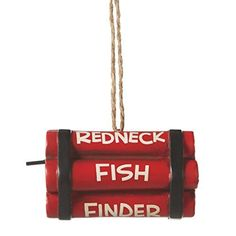 Midwest-CBK Red Neck Fish Finder Resin Fishing Ornament