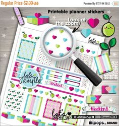 60%OFF - Fruit Stickers, Printable Planner Stickers, Weekly Stickers, Lemon Stickers, Functional Stickers, Erin Condren, Planner Accessories