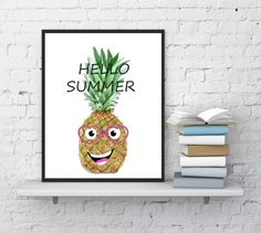 Pineapple print Kitchen print Funny prints by CleverCatQuotes