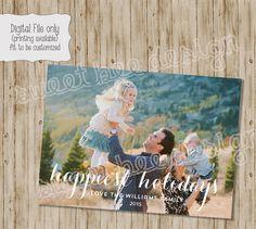 Christmas card photo card photo Christmas by SweetBeeDesignShoppe
