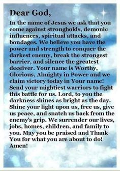 May we have the strength in your name!