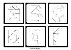 Notebook da Profª: Cards de Letras Tangram