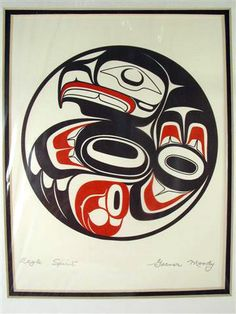 Northwest Coast Native Haida 'Eagle Spirit' Garner Moody Red Black Print   eBay