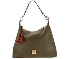 200e37390a685 Dooney   Bourke Pebble Leather Hobo Handbag-Juliette Designer Leather  Handbags