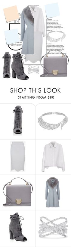 """""""Untitled #209"""" by monykute ❤ liked on Polyvore featuring Post-It, Prada, Messika, Y's by Yohji Yamamoto, Smythson and Effy Jewelry"""