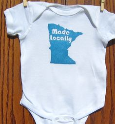 MInnesota Made Locally Onesie