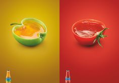 """사과와 토마토가 살아있네^^    우크라이나의 식품업체 """"Chumak"""" 사에서 선보인 광고입니다~  과실음료의 재료를 부각시킨 감각적인 연출이 돋보입니다,."""