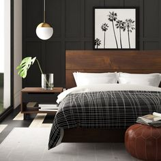 Contemporary design meets rustic industrial style in this three-piece bedroom set! Couple Room, Bedroom Layouts, Bedroom Designs, Suites, Home Decor Bedroom, Ikea Bedroom, Bedroom Storage, Bedroom Rustic, Bedroom Small
