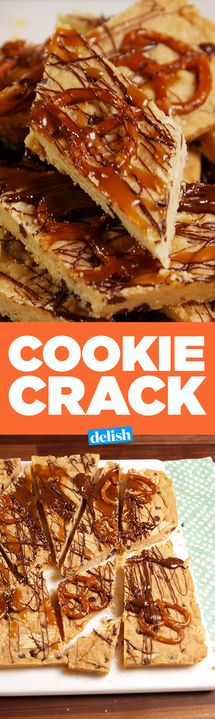 This salty sweet Cookie Crack should be illegal. Get the recipe from Delish.com.
