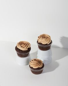 Abuelita Chocolate Cupcakes with Peanut Butter Frosting