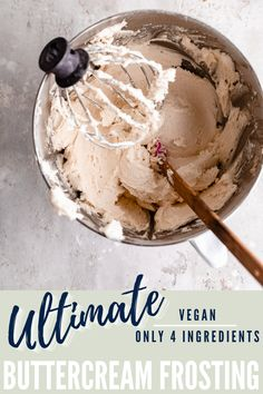 This is hands down the best vegan buttercream frosting ever!! Even non-vegans absolutely love this dairy free buttercream recipe! Just 4 ingredients and so easy to make, this is the perfect buttercream for your vegan cake! Vegan Cupcake Recipes, Healthy Banana Recipes, Vegan Cupcakes, Sugar Free Recipes, Vegan Cake, Easy Cake Recipes, Frosting Recipes, Healthy Dessert Recipes, Vegan Desserts
