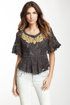 Free People All You Need Lace Top on HauteLook