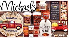 NEW MICHAELS FALL DECOR 2020 Hobby Lobby Christmas, Fall Projects, Hello Autumn, Go Shopping, Pumpkin Spice, Autumn Leaves, Whiskey Bottle, Fall Decor, Holiday Ideas