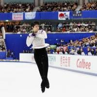 Olympic champion Yuzuru Hanyu added to his place in the records books by setting three world marks on the way to victory at the NHK Trophy in Nagano over the weekend.