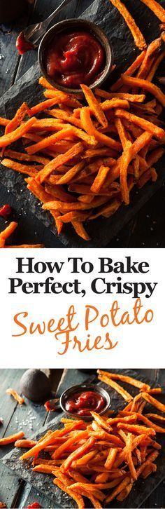 Here's some top tips to help you bake the crispiest, tastiest sweet potato fries you've ever eaten! (Baking Tips Potato Recipes) Vegetable Recipes, Vegetarian Recipes, Healthy Recipes, Healthy Snacks, Breakfast Healthy, Tofu Recipes, Delicious Recipes, Breakfast Recipes, Chicken Recipes