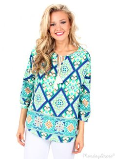 The perfect top for dressing up or down this spring season! Shop this See You In Spring Pattern Blouse at MondayDress.com!