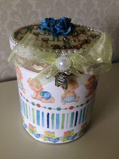 Randis hobbyverden: Gaveboks til baby i blått