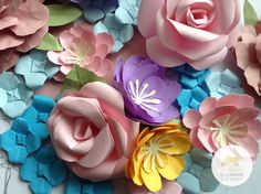 Paper flowers I made to be crated into corsages for a special vintage themed hen party