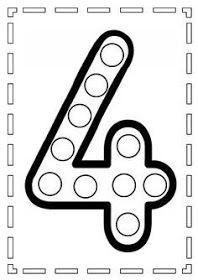Le chiffre 4 - My Pin Preschool Writing, Numbers Preschool, Learning Numbers, Pre K Worksheets, Kindergarten Worksheets, In Kindergarten, Toddler Learning Activities, Preschool Activities, Kids Learning
