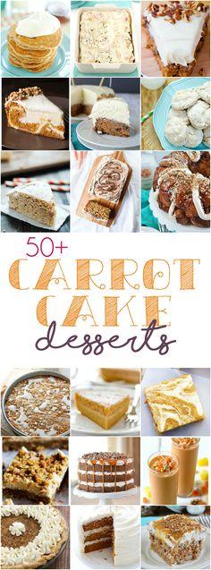 50+ Carrot Cake Desserts