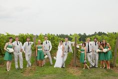 "love love love the idea of all linen for the bridal party and then using your ""colors"" as accent ;)"