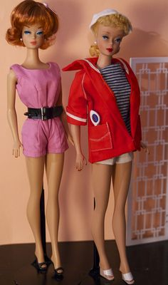 Barbie - Vintage No. 4 Ponytail Barbie and Reproduction Fashion Queen Barbie