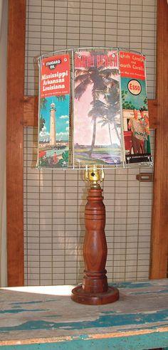 Handmade lamp and lampshade from Haute Hilary