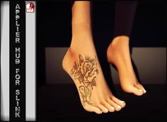 Second Life Marketplace - .: TAOX :. TaTToo Applier // Feets Rose Cross