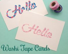 Adorable washi tape cards. | 17 DIY Stationery Projects That Will Make You Want To Write A Letter