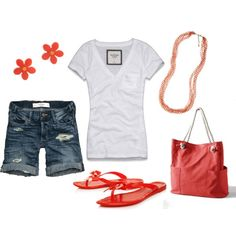 probably do a different color than orange, but great outfit for boating, running errands, or hanging out shopping :)