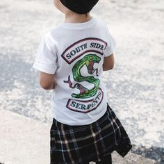 Riverdale Southside Serpents Tee Shirt - Kids All Fashion, Kids Fashion, Riverdale Shirts, Kids Shirts, Tee Shirts, Urban Tees, Trendy Kids, Printed Tees, Toddler Boys