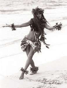 Kim-Taylor-Reece-Haunani-IV-11-X-14-Double-Matted-Hawaiian-Hula-Print-New
