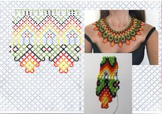 Jewelry Patterns, Beading Patterns, Crochet Necklace, Beaded Necklace, Hand Embroidery Tutorial, Bead Weaving, Seed Beads, Free Pattern, Diy And Crafts