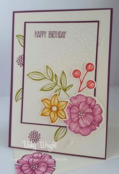 Created for one of my nieces' birthday - loves purple. Free tutorial - https://sunshinecards-creations.com/2017/04/10/card-3-2/ TFL Vicky