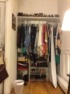 DIY Projects: How I Turned An Alcove Closet Into A Walk-In Wardrobe (BEFORE/AFTER PHOTOS)