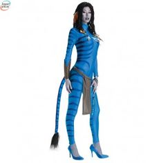 Neytiri Avatar Costume for sale online. Buy Avatar womens costume now with fast and easy delivery. Womens Avatar Costume and Mens Avatar costume are a perfect couple costume! Avatar Halloween Costume, Avatar Costumes, Halloween Kostüm, Adult Costumes, Costumes For Women, Women Halloween, Halloween Outfits For Women, Costumes Kids, Avatar Fancy Dress
