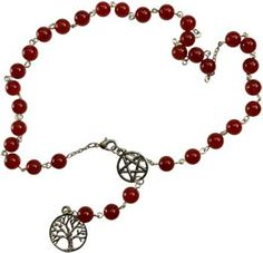 Carnelian Witch's Ladder necklace [JNCCAR] - $41.95 : Wicca, Pagan and Occult Practice Mega Store - www.thetarotoracle.com