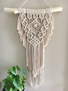 Made with 4mm twisted cotton rope