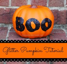 Glitter Pumpkin Tutorial Using a Dollar Tree Pumpkin and Elmer's Glue #elmers #craftit