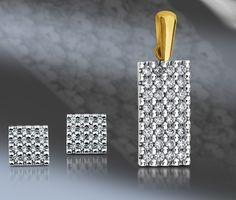diammond pendant and earrings