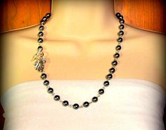 Stunning Leaf and Pearl Necklace by byBrendaElaine on Etsy