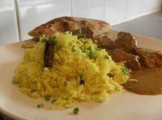 Turmeric Rice by Madhur Jaffrey. Photo by Frugal Fifer