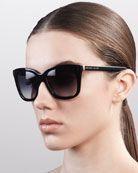 Classic Square Sunglasses, Black