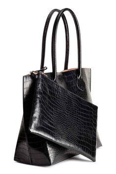 Ostoslaukku ja pikkulaukku - Musta - Ladies   H&M FI