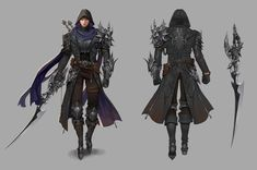 ArtStation - Assassin, coco kim Fantasy Character Design, Character Concept, Character Art, Cartoon Outfits, Anime Outfits, Character Costumes, Character Outfits, Warrior Concept Art, Dungeons And Dragons Classes