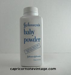 On Hold Vintage Baby Powder Container Johnson's baby