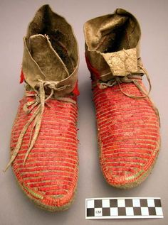 Sioux moccasins, 19th century.