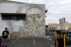 Vhils in Hawaii for Pow! Wow!